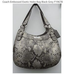 Coach embossed exotic Hobo bag F19678 /NWT/